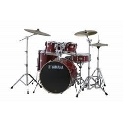 Yamaha Stage Custom Birch Studio Cranberry Red + HW780