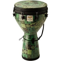"Remo Djembe 14"" Key Tension Green Kinte Kloth"