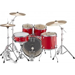 Yamaha Rydeen Standard Hot Red + Set Platos Paiste