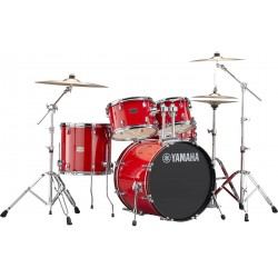 Yamaha Rydeen Studio Hot Red + Set Cymbals Paiste