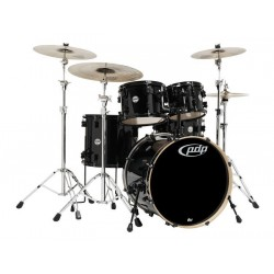 PDP by DW Concept Maple CM5 Pearlescent Black con herrajes