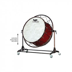 NP Bass Drum Concert Cover Old 90x50 cms Cereza