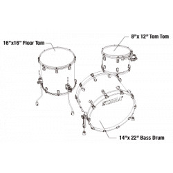 Tama MR32CZBNS-BWO Starclassic Maple Blue and White Oyster / Black Nickel Hardware
