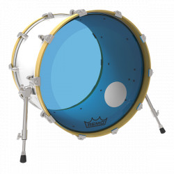 "Remo 24"" Powerstroke 3 Colortone Blue P3-1324-CT-BUOH"