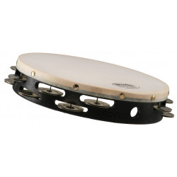 """Grover T2/GS  Concert Tambourine 10"""" 2 Row German Silver"""