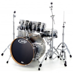 PDP by DW Concept Maple CM5 Standard Silver to Black + Set Hardware