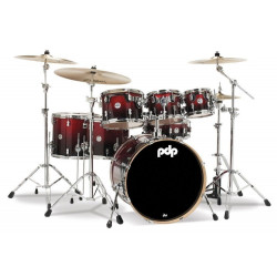 PDP by DW Concept Maple CM7 Red to Black + Set Herrajes