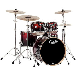 PDP by DW Concept Maple Studio Red to Black