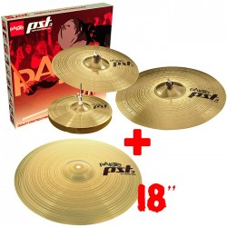 Paiste Set Platos PST3 Universal Set + Crash Ride 18